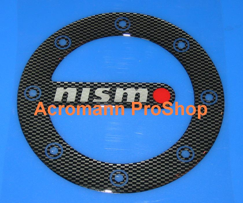 NISMO Carbon Gas Door Emblem (Style#2)